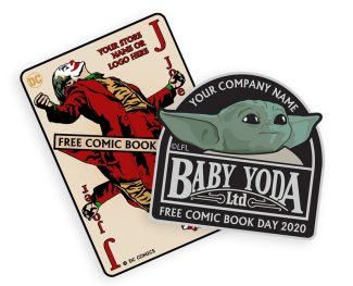 The Child / Baby Yoda & Joker FCBD 2020 Patches