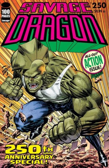 SAVAGE DRAGON #250 With Savage Dragon Sketch By Rich Woodall (and Signed)