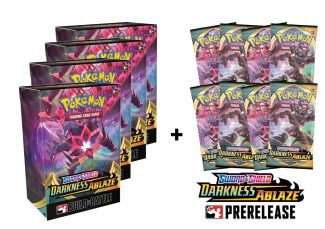 4x Darkness Ablaze Pre-release Pack & 8 Boosters