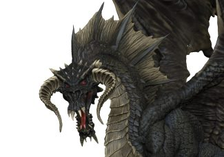 D&D Icons Of The Realms: Adult Black Dragon Premium Figures