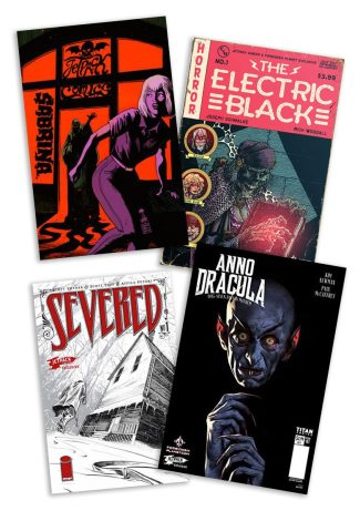 Jetpack Halloween Bundle 4-pack (Electric Black #1, Sabrina #1, Severed #1 & Anno Dracula #1)