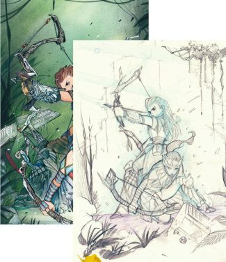 HORIZON ZERO DAWN #4 2-PACK (PEACH MOMOKO VIRGIN + SKETCH VARIANTS)