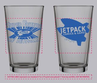 Jetpack Pint Glass (Super Friends)
