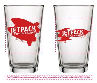 Jetpack Pint Glass (Jetpack Logos)