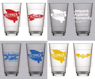 Jetpack Pint Glass (4-pack)