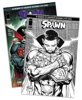SPAWN #311 2-Pack (Color & Limited Edition B/W Tribute Cover)