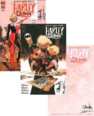 3x Batman White Knight Presents: Harley Quinn #1 (SIGNED BY SEAN MURPHY & KATANA COLLINS)