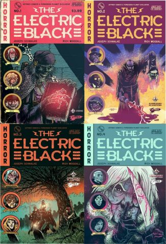 ELECTRIC BLACK PRESENTS #1 – 4 (JETPACK EXCLUSIVE SET)