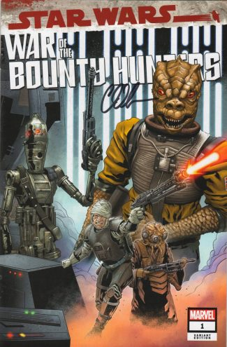 Charles Soule Signed – Star Wars War Of The Bounty Hunters #1 (Jetpack Comics Will Sliney Limited Exclusive Variant)